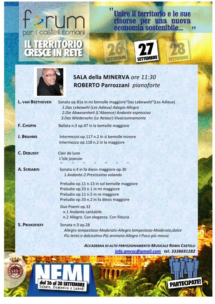 2015.09.27 NEMI.FORUM Roberto Parrozzani