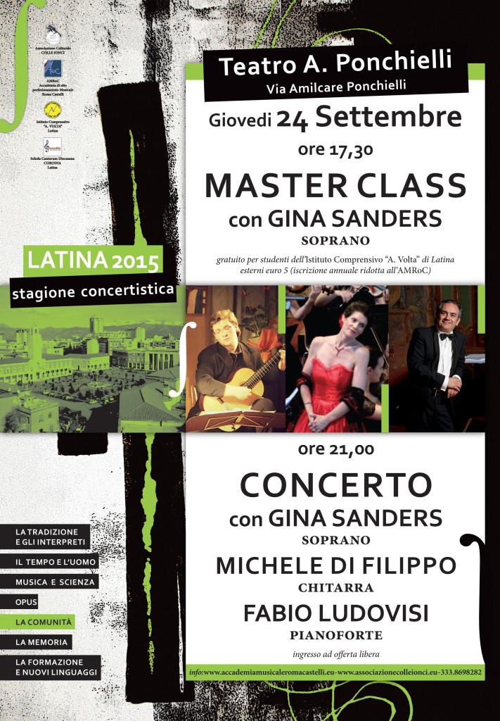 Latina 24 settembre 2015 - Masterclass e concerti di GINA SANDERS, con Michele Di Filippo e Fabio Ludovisi