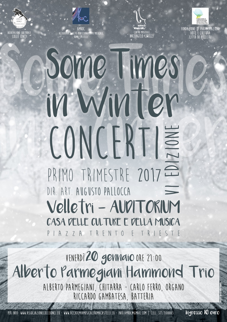 web Some Times in Winter - AUDITORIUM 20 gennaio