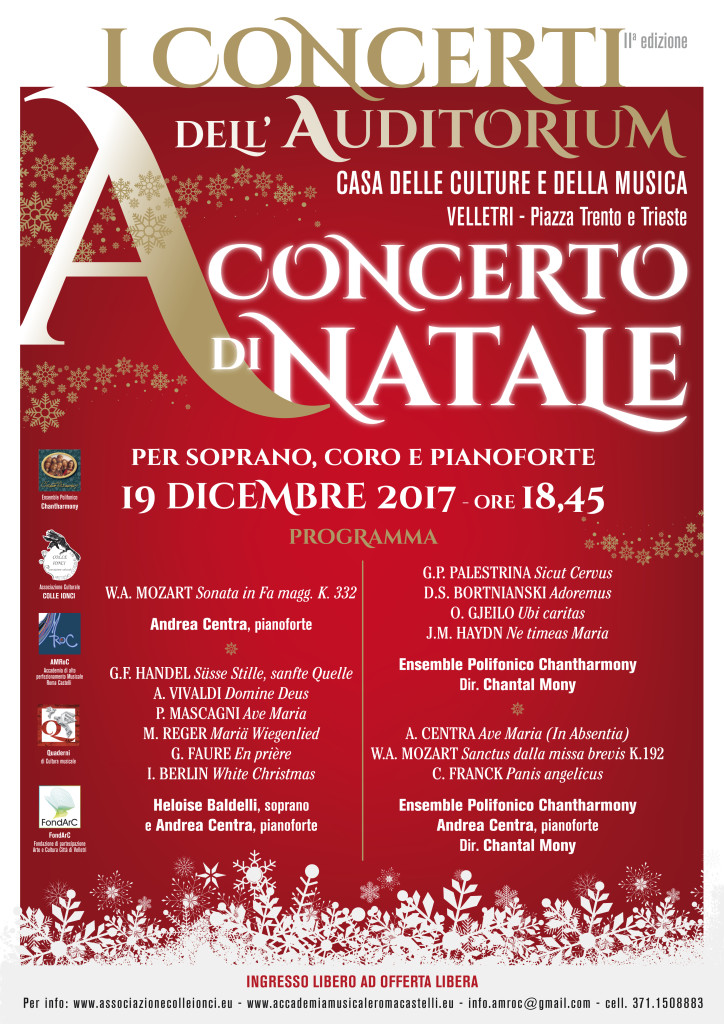 CONCERTI AUDITORIUM - REPERTORIO VOCALE 2017