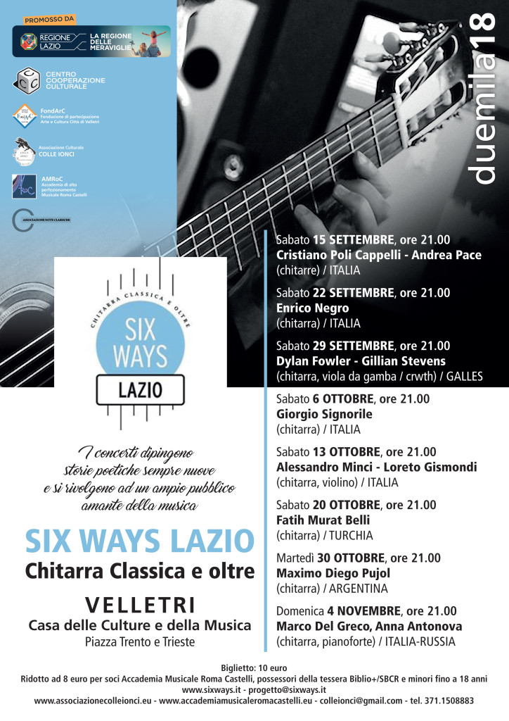 10 SETTEMBRE CHIOSTRO IN MUSICA 2018 - bis
